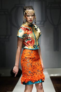Sebastian Gunawan Chinese inspired haute couture 2012
