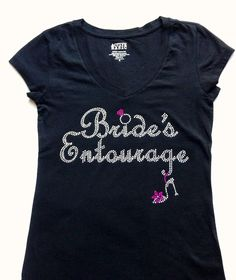 Bride's Entourage TShirt Top. Team bride VNeck. by JWBridalShop, $16.00