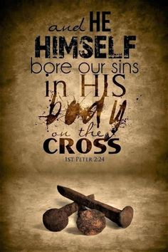 1 Peter (NASB) - and He Himself bore our sins in His body on the cross, so that we might die to sin and live to righteousness; for by His wounds you were healed. Religious Quotes, Spiritual Quotes, Christian Faith, Christian Quotes, Christian Living, Bible Scriptures, Bible Quotes, Bible 2, Scripture Verses