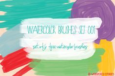 Watercolor Brushes Set 001 by whisperedstories in 30 Fresh and Free Photoshop Brush Sets