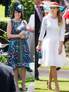 Princess Beatrice and Princess Eugenie dressed to the nines for the Royal Ascot.