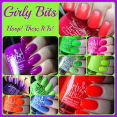 Now available!!  Girly Bits Hoop! There It Is! Collection - Swatches and Review | Pointless Cafe www.girlybitscosmetics.com/hoop-there-it-is