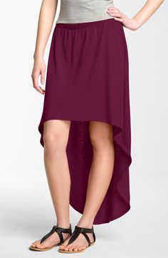 Lily White Asymmetrical Hem Maxi Skirt (Juniors) available at Nordstrom...these are really popular now