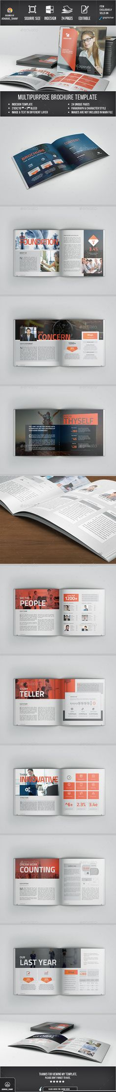 Corporate Brochure Template Indesign Indd Design Download Http