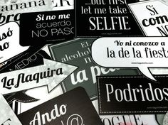 "Letreros para fiesta ""Blanco y Negro"" www.taguinche.com Wedding Prints, Wedding Art, Our Wedding, Fiesta Party, I Party, Party Time, Bachelorette Party Themes, 25th Wedding Anniversary, Mexican Party"