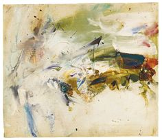 Joan Mitchell 1925 - 1992 UNTITLED signed, oil on canvas 14 by 16 in. Executed circa 1955.