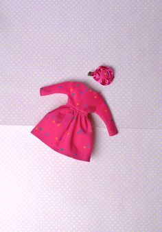 Check out this item in my Etsy shop https://www.etsy.com/uk/listing/534735712/fuchsia-dotted-dress-blythe-fashion