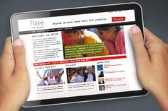 Hope for Children website design @satcreative