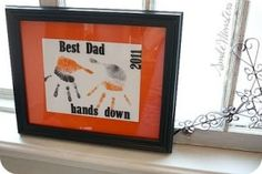 """""""Best Dad, hands down"""" Had this type of idea before I just saw it.  Mine will be a bit different from this.  Can't wait to give it to Andrew for Father's Day!"""