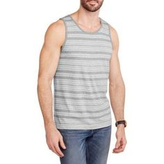 Faded Glory Men's Stripe Tank, Size: Large, Multicolor