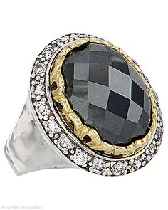 Let gorgeous jewels reign! Hematite, Cubic Zirconia, Brass, Sterling Silver.