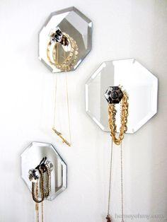 Mirrored Jewelry Holders