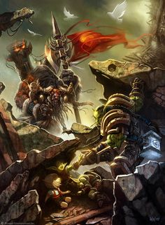 ArtStation - The Art of Warcraft, Wei Wang<<<<thrall/goel and the leader of the tauren (i think his name is cainth i forget :P)