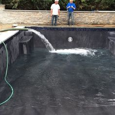 Filling up the pool!