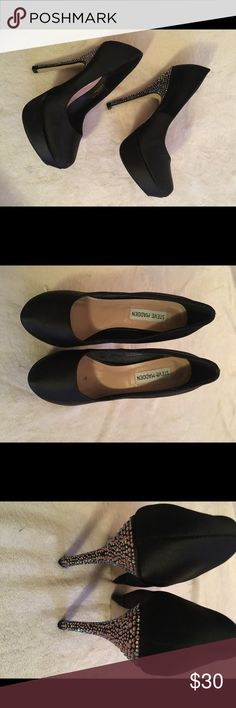 Steve Madden Stiletto Black stiletto with bejeweled heel Steve Madden Shoes Heels