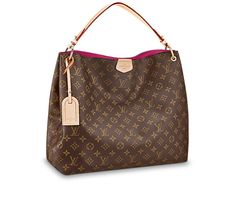 Graceful Louis Vuitton x x inches (Length x Height x Width) - Monogram canvas - Natural cowhide leather trimmings - Golden color metallic pieces - Snap hook closure - 1 interior zipped pocket - D-ring to hang keys and pouches Vuitton Bag, Louis Vuitton Handbags, Louis Vuitton Speedy Bag, Purses And Handbags, Louis Vuitton Monogram, Coach Handbags, Fashion Mode, Fashion Bags, Runway Fashion