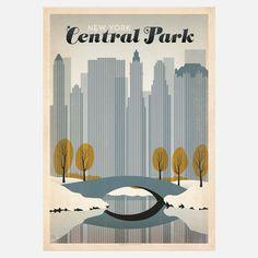 vintage central park poster fab.com