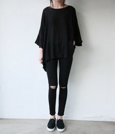 †oversized batwing t shirt + skinnies†