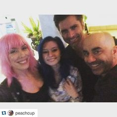 #Repost @peachcup -- a lovely evening with @taycoliee @johnstamos @grandfathered