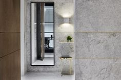 Lavish, marble-clad bathrooms at PDG, Melbourne designed by Studio Tate are treated to materials and detailing more ...