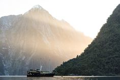 Sunset over Milford Sound - by Luke Cartledge Milford Sound, Photo Competition, Free Photos, Us Travel, Mountains, Sunset, Nature, Naturaleza, Sunsets