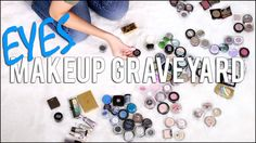 MAKEUP GRAVEYARD | Eye Shadow Collection These videos are so fun to watch! Getting rid of makeup is sooooo hard!
