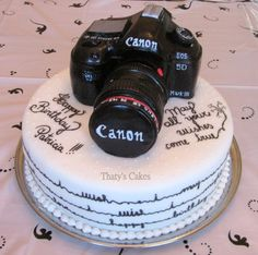 birthday coming up soon? 65th Birthday, Surprise Birthday, Birthday Cakes, Happy Birthday, Camera Cakes, Cannon Camera, Adult Party Themes, Delicious Deserts, Novelty Cakes