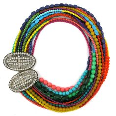 Love elva fields and the rainbow of color in yhe necklace. Happy Days Ahead necklace by Elva Fields #elvafields
