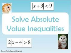 Your students will enjoy learning and practicing how to solve absolute value inequalities with this fun, colorful, animated PowerPoint presentation...