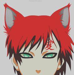Gaara 8(>_<)8 Is So Cute <_( *-*)/ With Fox Ears!