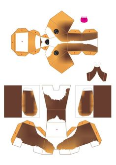 Blog Paper Toy papertoys puppies template 2 preview Puppies papertoys de Julius Perdana