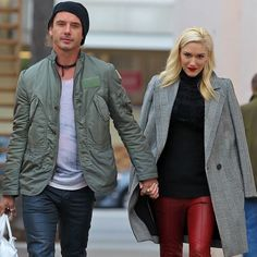 Gwen Stefani Edges Up the Holidays in Red Leather Pants