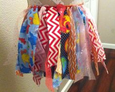 Sesame Street rag skirt, tutu, birthday outfit by lovestocreatethings on Etsy