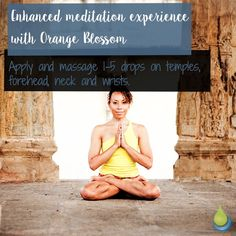 Enhanced meditation experience with Orange Blossom 🌸🌸🌸 Apply and massage drops on temples, forehead, neck and wrists. Orange Oil, Orange Blossom, Temples, Massage, Meditation, Essential Oils, How To Apply, Instagram, Massage Therapy