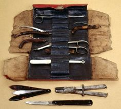 1700s Surgical Kit.  Sure hope the patient was already asleep before Doc pulled out his kit.