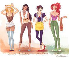 modern disney princesses - GEEKISS