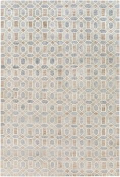 Clarno Cypress Hand-Knotted Beige/Gray Area Rug