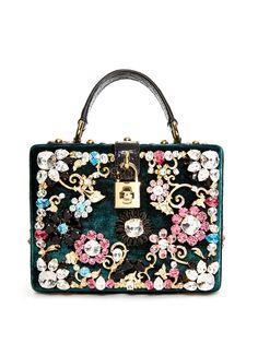 Dolce embellished velvet box bag   Dolce & Gabbana   MATCHESFASHION.COM UK