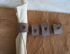 Set of Minimalistic ceramic rustic napkin ring with a by Florcita, €20.00
