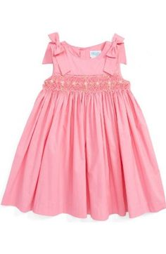 Free shipping and returns on Luli & Me Gingham Check Smocked Dress (Baby Girls) at Nordstrom.com. Little embroidered flowers pattern the smocked waist of a darling gingham-check dress cut from crisp, lightweight cotton. A bow at the side and the back extend the summery charm.