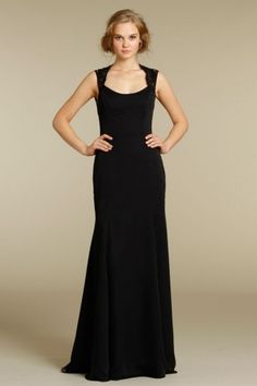 Long Black Mother of the Bride Dress with Draped Skirt, Quality Unique Mother of the Bride Dresses - Dressale.com