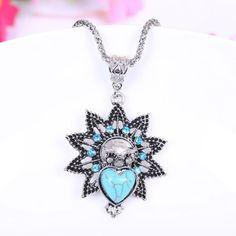 1Pc New Resin Gemstone Long Chain Necklace Pendants OWL Fashion Charm Jewellery