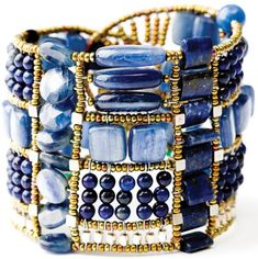 Blue Onyx Bangle - I don't usually care for anything blue but...this is just gorgeous.