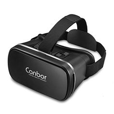 cool VR 3D Gafas, Canbor de Realidad Virtual VR 3D VR Headset Gafas para Ver 3D Películas / Juegos compatibles con Apple Iphone, Samsung Galaxy, Note, HTC y Otros 4 - 6.0 Teléfonos Celulares