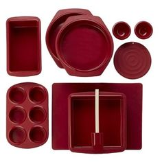 for me!   Silicone Solutions 10-pc. Bake and Serve Set - Red.