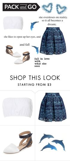 """""""it all becomes a dream"""" by eysari ❤ liked on Polyvore featuring Glamorous, Maje and Neiman Marcus"""