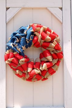 "Summer wreath sale! Patriotic wreath 22"" round Veteran's Day, Flag wreath, 4th of july wreath, burlap Very full, and large, Patriotic Crafts, Patriotic Wreath, Patriotic Decorations, 4th Of July Wreath, Holiday Decorations, Flag Wreath, Burlap Wreath, Burlap Ribbon, Horse Head Wreath"