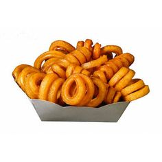 curly fries, © Burke/Triolo Productions/Brand X/Corbis, RF, Carton, Curly fries, Cutout, Fast food, Food, French fries, Fried food, Junk food, Nobody, Prepared food, Single object, White background