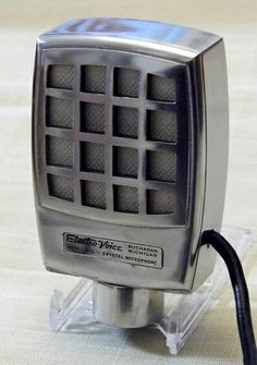 Vintage Electro-Voice Century Crystal Microphone, Model 915, Push-To-Talk, Circa 1950.