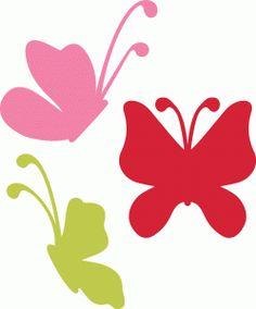 Silhouette Online Store: 3 lori whitlock butterflies - butterfly set